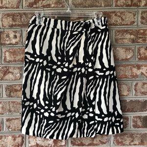 🌴Ann Taylor Fully Lined Animal Print Wrap Skirt 0